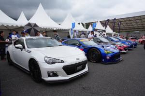 今年からはスバルBRZも参加可能になり、ワークスブランドであるSTIがブースを出展。このイベントでSTIが足回りを徹底的に鍛えたスバルBRZ tSが発表された。限定500台の特別仕様車だ。