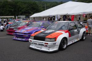 ドリキンが参戦するAE86のN2レース用レーシングカー。残念ながらドリキンは表彰台に立てず。