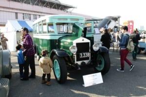 石川島自動車製作所 スミダM型バス(1929)いすゞの前身である石川島自動車製作所が昭和4年に製造した国内現存最古の国産乗合バス。動態保存で、経産省の「近代化産業遺産」認定