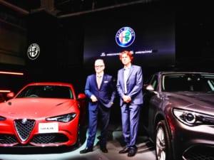 ヘグストロム氏(左)とエクステリアチーフデザイナーのアレッサンドロ・マッコリーニ氏
