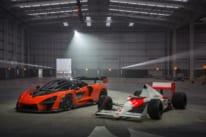 マクラーレン・コンポジット・テクノロジー・センター (MCTC)に登場したマクラーレン セナ ロードカーとMP4/5 レースカー