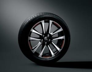235/50R 19タイヤ (ブリヂストン DUELER H/P SPORT)×8J G's専用アルミホイール (ブラック塗装+切削光輝&リム段差+レーザー加飾レッドライン使用) 〈オプション装着車〉