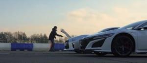 ホンダ NSXとチューンド日産 GT-Rのドラッグレース