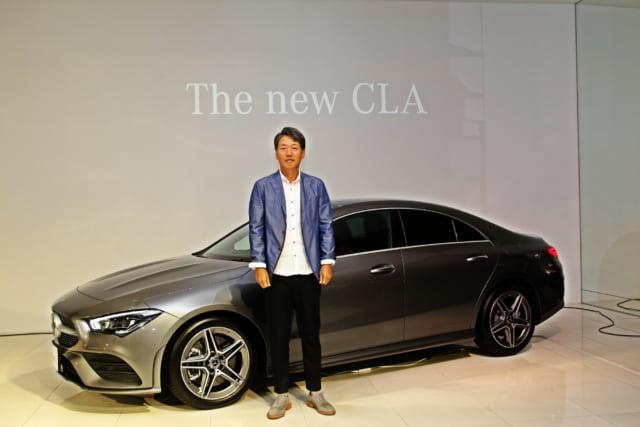 CLA 250 4MATICと上野金太郎CEO