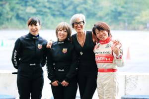左から、インストラクターの村里氏、石川氏、FCAのティツィアナ氏、石川氏