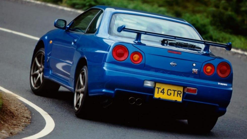 日産GT-R_R34_ベイサイドブルー